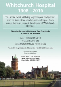 Whitchurch party poster