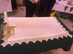 1917 tablecloth made in Whitchurch Hospital
